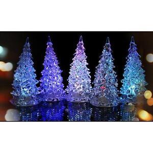 image is loading crystal mini led christmas tree night light flashing