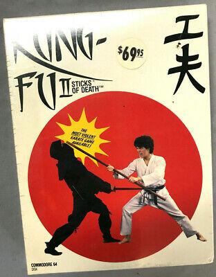 Nieuwste Collectie Van Kung Fu Ii - Sticks Of Death By Uxb Version For C64/128 Spinnaker Software Nib Vloeiende Circulatie En Pijn Stoppen