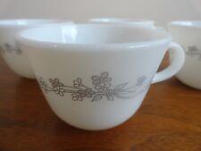 Corelle Corning 2 Mugs Cups Ribbon Bouquet Pattern Gray Flowers   eBay