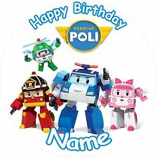 "ROBOCAR POLI BIRTHDAY 8"" ICING CAKE TOPPER"