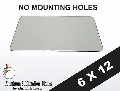 "30 Pieces ALUMINUM LICENSE PLATE SUBLIMATION BLANKS 6/""x12/"""