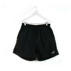 90s PUMA vintage shorts black nylon athletic sports gym retro XL XXL mens