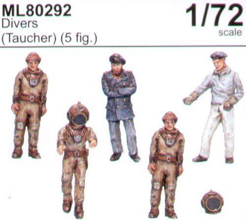 Taucher x 5 # ML 80292 CMK Maritime Line 1//72 Divers