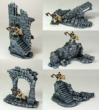 FROSTGRAVE (suited) - 'RUINED BATTLEMENTS PACK' - PRE PAINTED - FANTASY TERRAIN