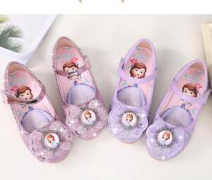 low priced 9e984 48f72 Details zu Festliche Mädchen Pailletten Prinzessin Schuhe Kinder Einzel  Schuhe Sandalen