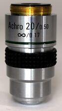 NEW 20X MICROSCOPE OBJECTIVE, ACHROMATIC, INFINITY, NA 0.5, RMS THREAD (ID141)