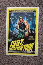 Escape From New York #2 Lobby Card Movie Poster Kurt Russell