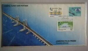 FDC-Malaysia-1985-Jambatan-Pulau-Pinang-3v-Stamps-Cover