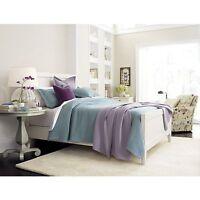 Crate & And Barrel Eden Lavender Matelasse Full/queen Bedspread- New-nip