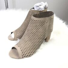 e130725a4966 item 6 Soda Women s Open Toe Perforated Stacked Block Heel Ankle Bootie  SIZE 8.5 -Soda Women s Open Toe Perforated Stacked Block Heel Ankle Bootie  SIZE 8.5