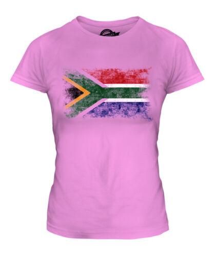 Afrique du sud effet vieilli drapeau femmes t-shirt suid-afrika football africain shirt