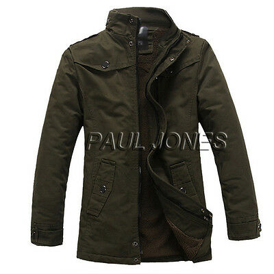 Stylish Military Winter Men's Slim Padded Coat Tops Trench Jackets Parka XS~L