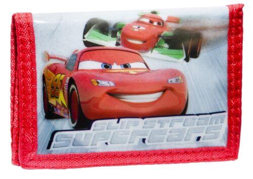 Con Licenza Disney Borsetta Wallet rosso Cars Moneta Coin Bifold titolare