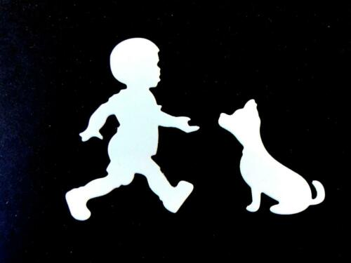 Ch Boy Any Colour//Card Child Baby 8 Playful Toddler and Puppy Die Cuts