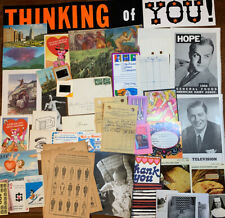 #7   Lot 50 Pc.  Vintage Ephemera Paper Pack Collage Junk Journal Old Antique