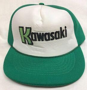 Vintage-Kawasaki-Camionero-Sombrero-Gorra-De-Beisbol-Gorra-Espuma