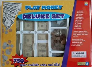 EDUCATIONAL INSIGHTS Play Money Deluxe Set. 750 pieces ...