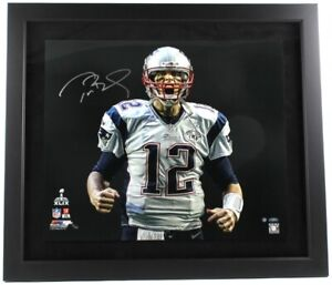 "Tom Brady Signed Patriots LE 5/12 ""SB 49 Touch Down Scream"" 27x31 Custom Steiner"