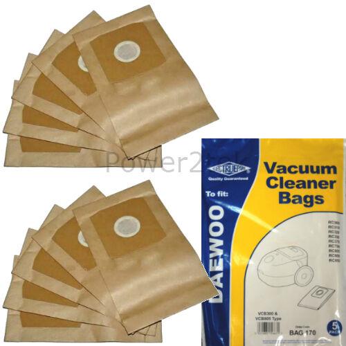 RCN400B RCN500 sacs aspirateur pour daewoo RC371S RC371SL RC400 hoover 10 x VCB300