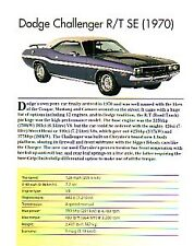 1970 Dodge Challenger RT/SE Article - Must See !!