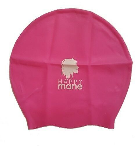 Happy Mane bonnet de bain rose Large taille L (cheveux longs/tissage/dreadlocks)
