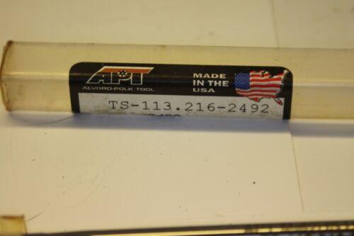 "APT ALVORD POLK TOOLS REAMER 58947 .2490 M-42 HS 6/"" L"