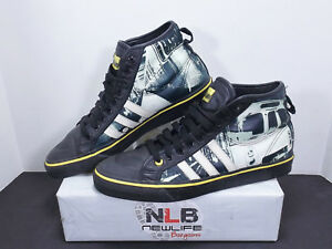 online retailer 07ba8 2cdbc Image is loading RARE-Adidas-Originals-Nizza-high-fakso-G18294-Black-