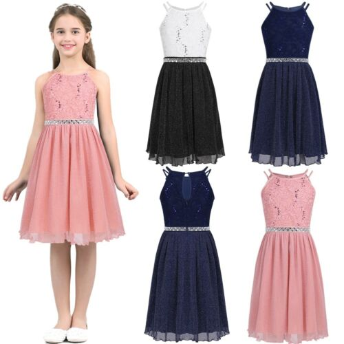 Lace Flower Girls Dress Pageant Bridesmaid Wedding Formal Party Princess Dresses
