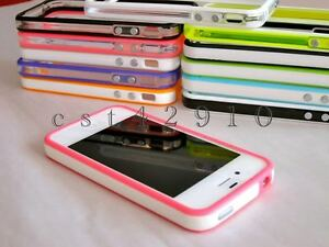 For-iPhone-4-4S-4G-Bumper-Frame-TPU-Silicone-Case-w-Metal-Buttons