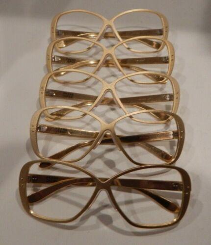 Lot All Aluminum 9714 Matte Gold 57//18 Eyeglass Frame NOS Vintage 5 Pc
