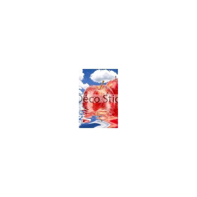 Aufkleber Kühlschrank Apfel- Spiegelung 60x90cm Ref 076 E40535cc6eaf