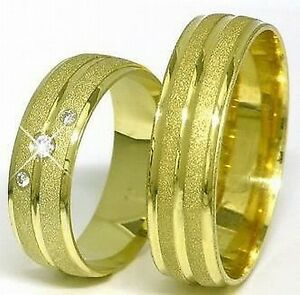 Edle-Eheringe-Trauringe-585-Gold-14-Kt-Gelbgold-Handarbeit-6-mm-breit-Massiv