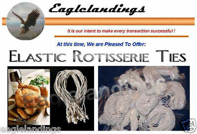 """200 7/"""" Elastic Rotisserie Cooking rubber Ties for Original Ronco or Showtime"""