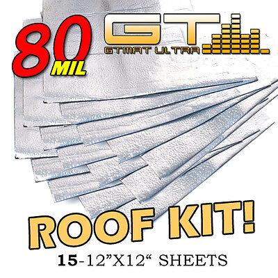 NEW 15qft GTMAT Ultra Car Roof Kit Sound Deadener Rattle Dampening Sheets