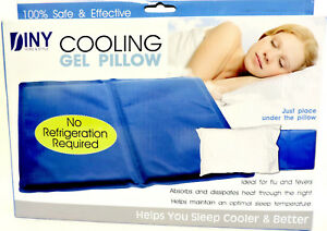 Cooling Gel Pillow Helps You Sleep Cooler & Better Sleeping Aid Cool Comfortable