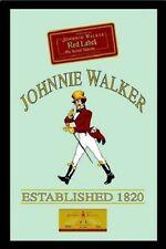 Johnnie Walker Red Label Nostalgie Barspiegel Spiegel Bar Mirror 22 x 32 cm