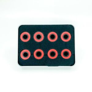SKATEBOARD-BEARINGS-8PK-608-2RS-HYBRID-CERAMIC-WITH-BLACK-OXIDE-SKATE-BEARINGS