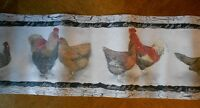 Rooster Hen Chicken Wallpaper / Border 3 Packages Never Opened