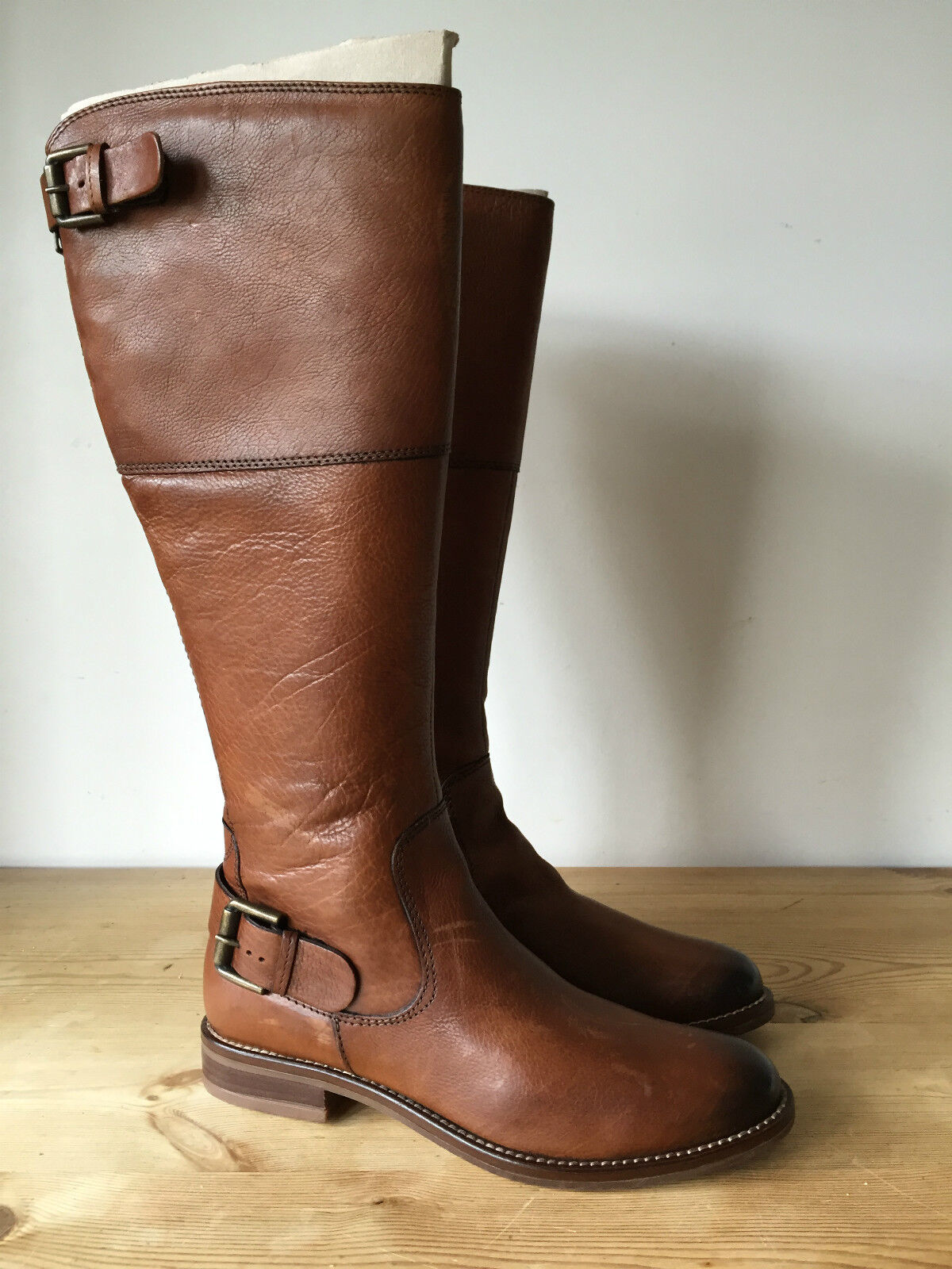 NEW CARA LADIES BROWN LEATHER KNEE HIGH RIDDING STYLE BOOTS UK 3 EUR 36