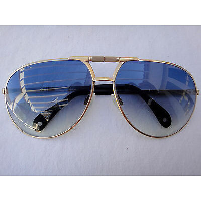VINTAGE METZLER AVIATOR SHAPED GOLD 80'S SUNGLASSES MADE IN GERMANY