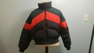 Urban Lg Puffer Outfitters Chevron Nuovissimo Tag Cropped Jacket Color con Block vwqnEnB