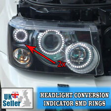 RANGE ROVER SPORT 2 X 60MM INDICATOR SMD RINGS ANGEL EYE FACELIFT CONVERSION