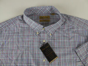 Roundtree-amp-Yorke-Gold-Label-Non-Iron-Perfect-Performance-SS-Plaid-Shirt-NWT-69