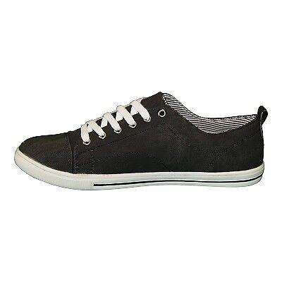 Herren Sneaker Schnürer Halbschuhe Skater Turnschuhe Schuhe 41-46 schwarz grau