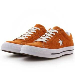e858ae31677c5 Details about Converse Mens One Star Ox Suede 161574C Orange/White Size 8.5  Unisex