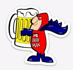 MAGNET Budweiser Budman Die Cut Vinyl Magnet Bud Light Beer Bud Man
