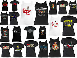 ba96d515ee556d Das Bild wird geladen Griller-T-Shirt-Damen-Grillmotive-Damenshirt-Grill -Grillershirt-