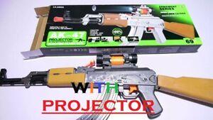 Ninos-Ejercito-Force-AK-47-rifle-de-asalto-Juguete-Pistola-De-Luz-Proyector-de-vibracion-de-sonido