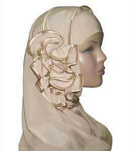 Fancy Ring Hijab Head wear cover scarf Islamic dress High Quality £7+