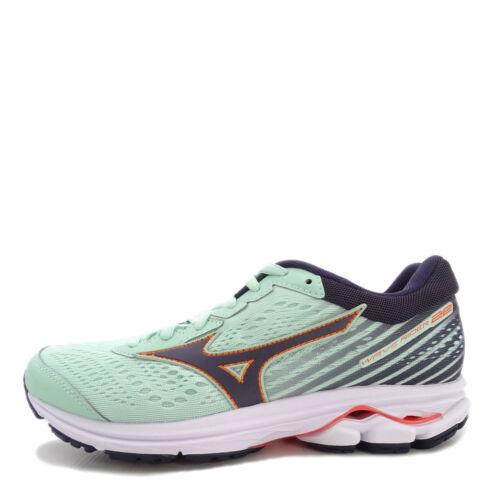 Women Running Shoes Green//Black J1GD183111 Mizuno Wave Rider 22